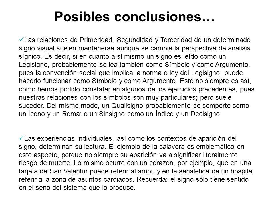 Posibles conclusiones…