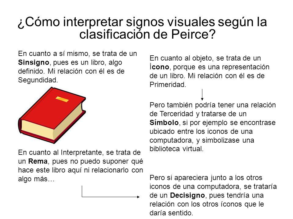 ¿Cómo interpretar signos visuales según la clasificación de Peirce
