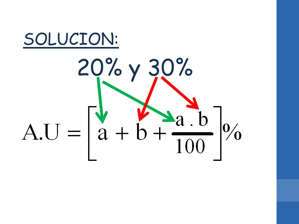 SOLUCION: 20% y 30%