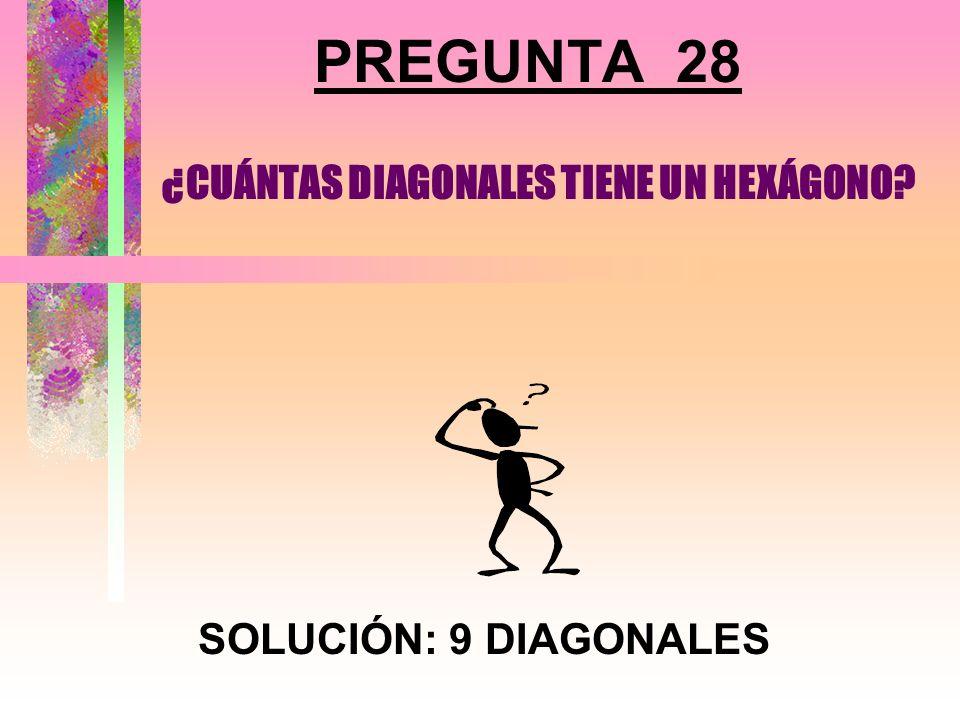 ¿CUÁNTAS DIAGONALES TIENE UN HEXÁGONO