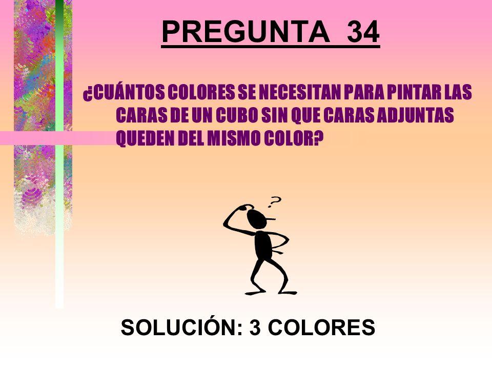PREGUNTA 34 SOLUCIÓN: 3 COLORES