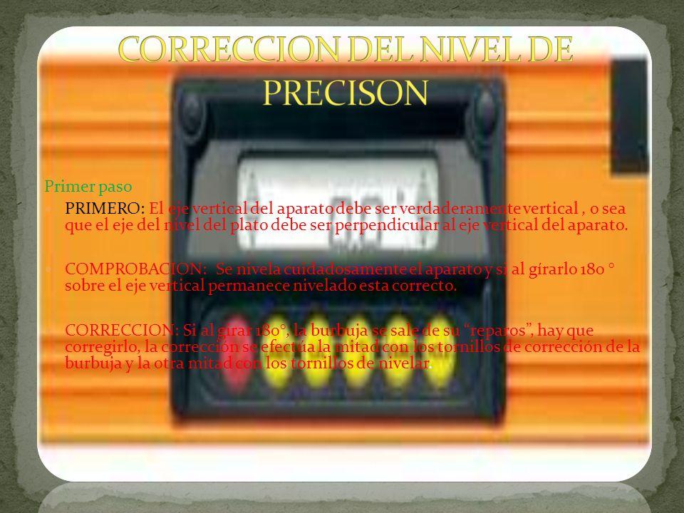 CORRECCION DEL NIVEL DE PRECISON