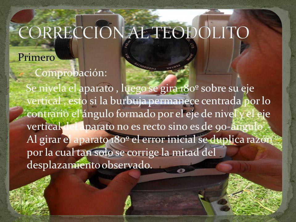 CORRECCION AL TEODOLITO