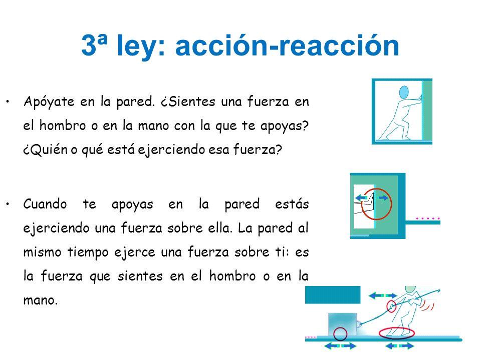 3ª ley: acción-reacción