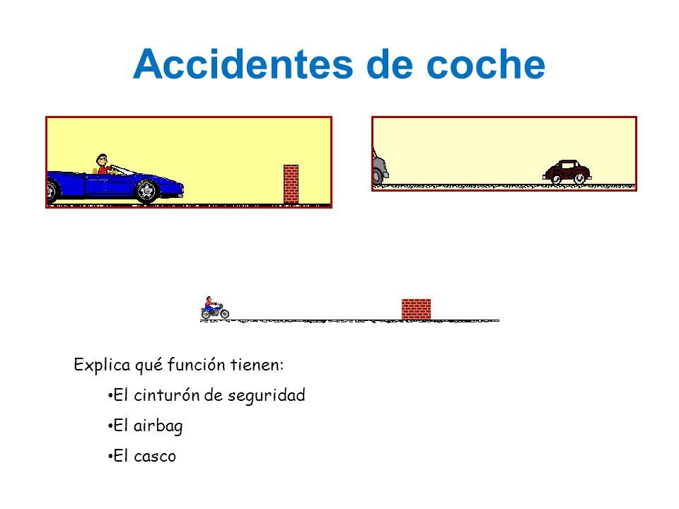 Accidentes de coche Explica qué función tienen: