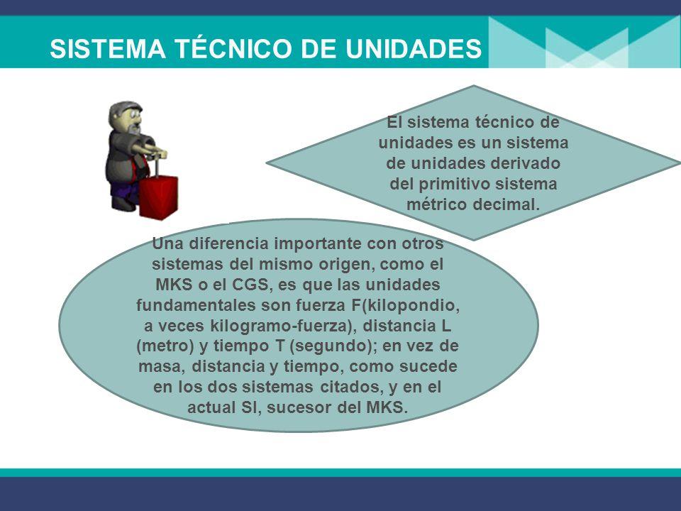 SISTEMA TÉCNICO DE UNIDADES