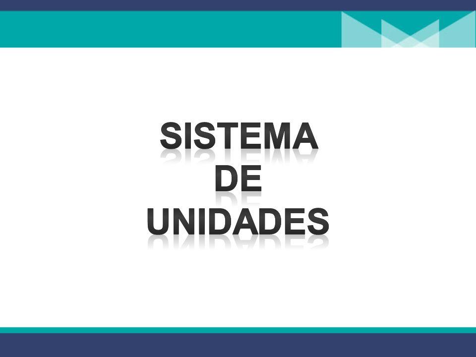 SISTEMA DE UNIDADES SISTEMA DE UNIDADES