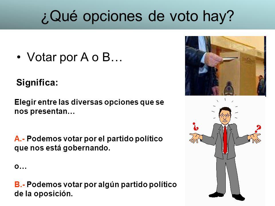 ¿Qué opciones de voto hay