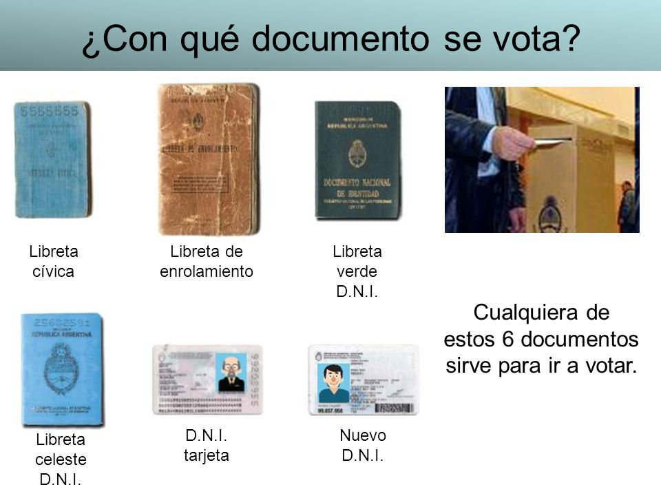 ¿Con qué documento se vota
