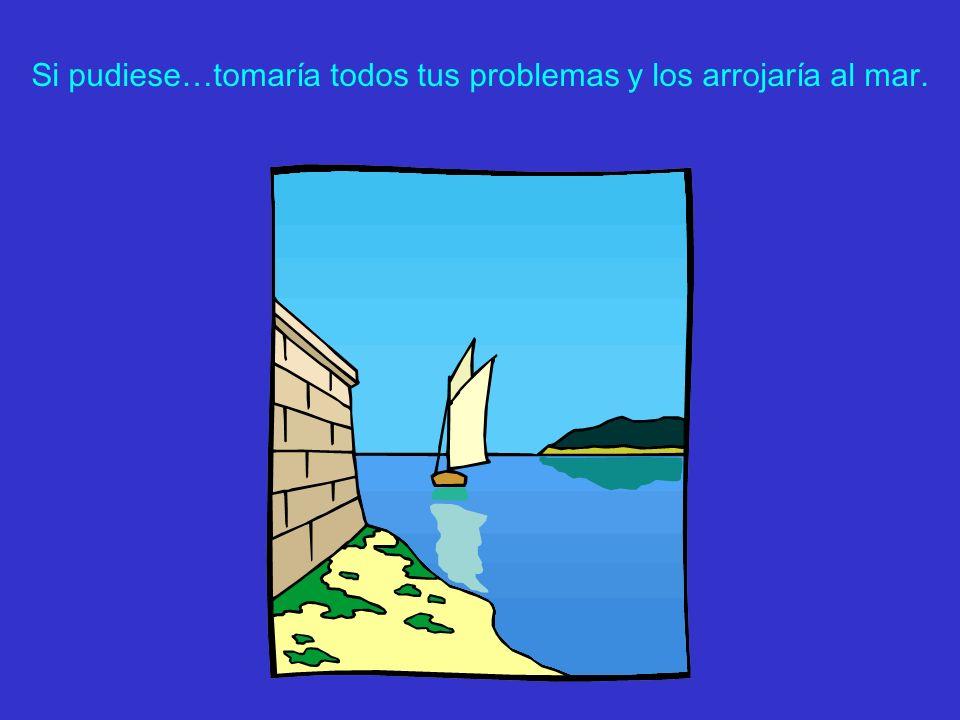 Si pudiese…tomaría todos tus problemas y los arrojaría al mar.