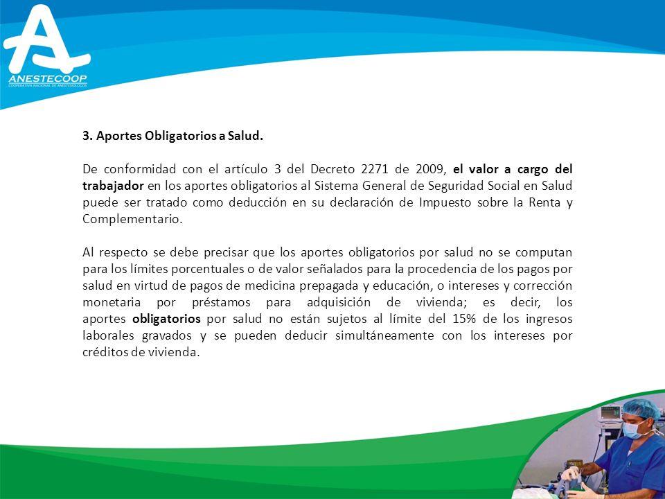 3. Aportes Obligatorios a Salud.