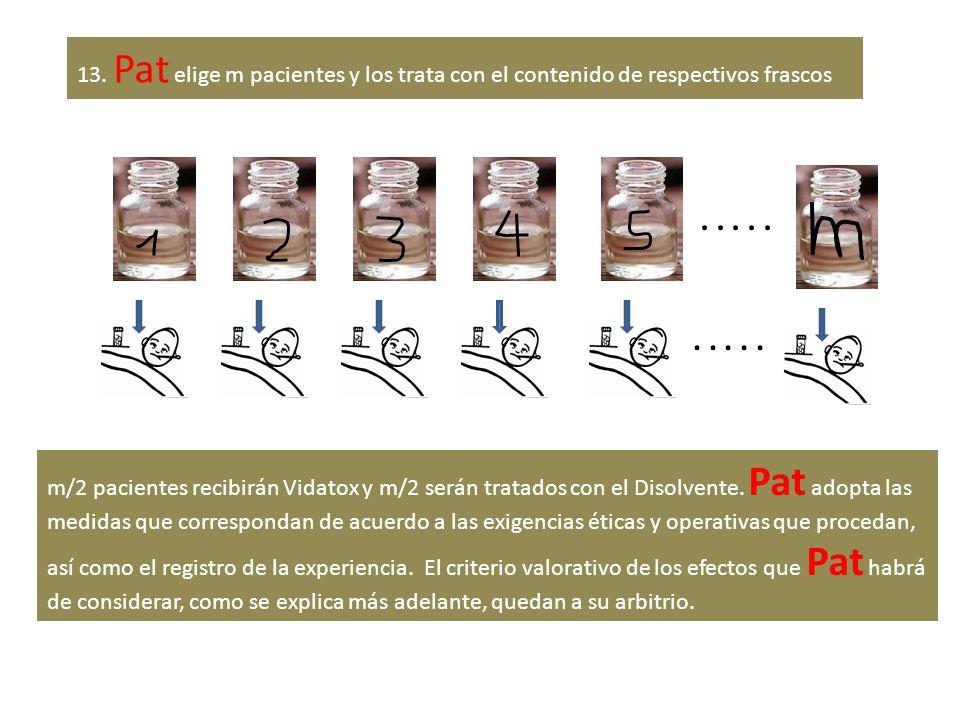 13. Pat elige m pacientes y los trata con el contenido de respectivos frascos