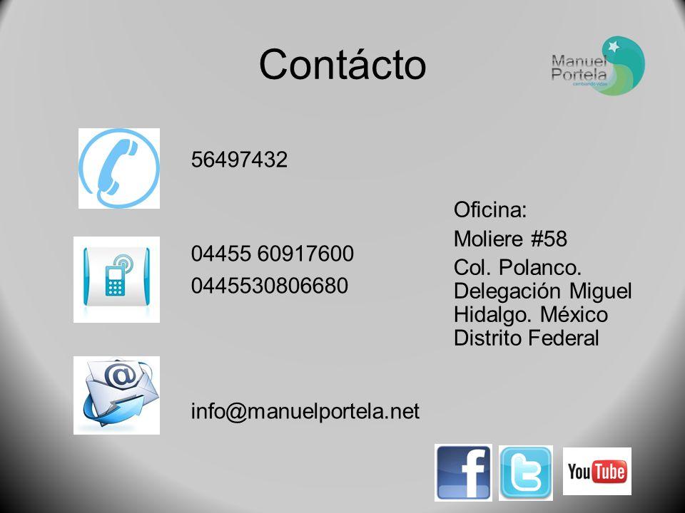Contácto 56497432 04455 60917600 0445530806680 Oficina: Moliere #58