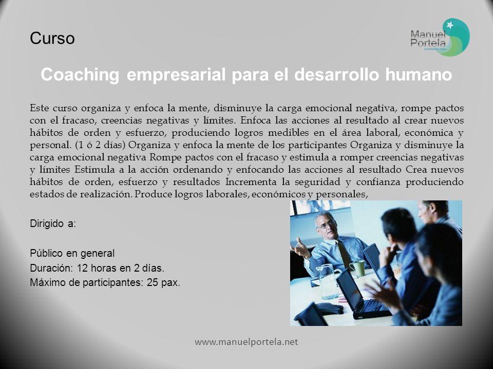 Coaching empresarial para el desarrollo humano