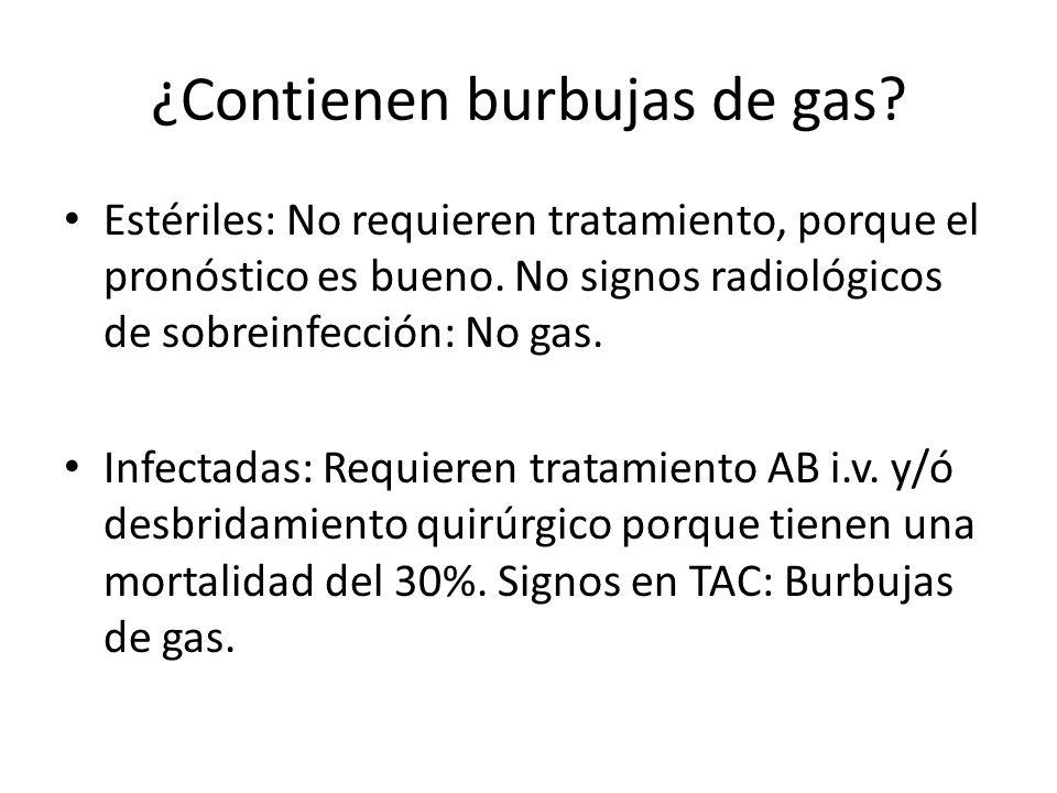 ¿Contienen burbujas de gas