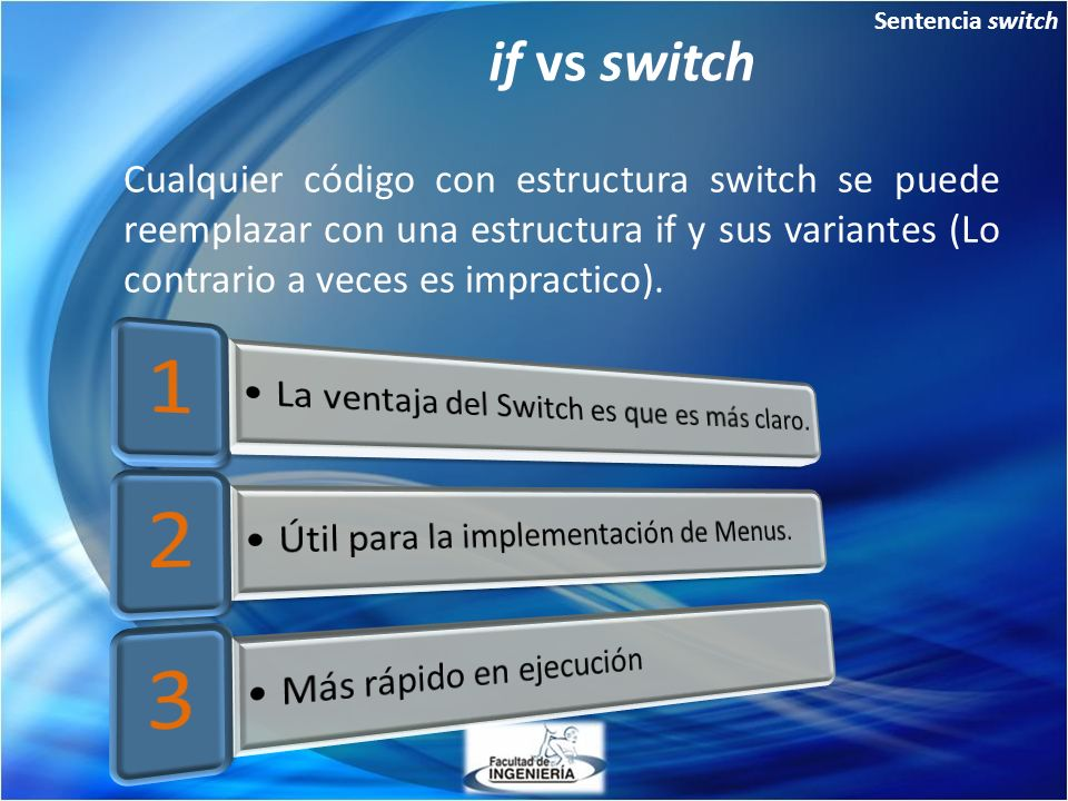 Sentencia switch if vs switch.