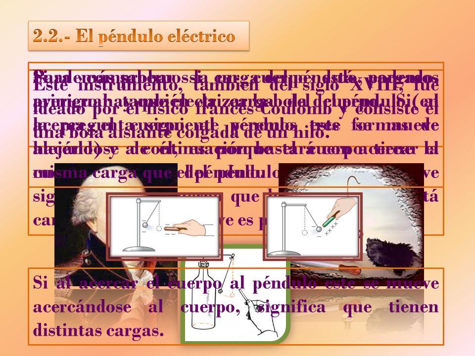 2.2.- El péndulo eléctrico