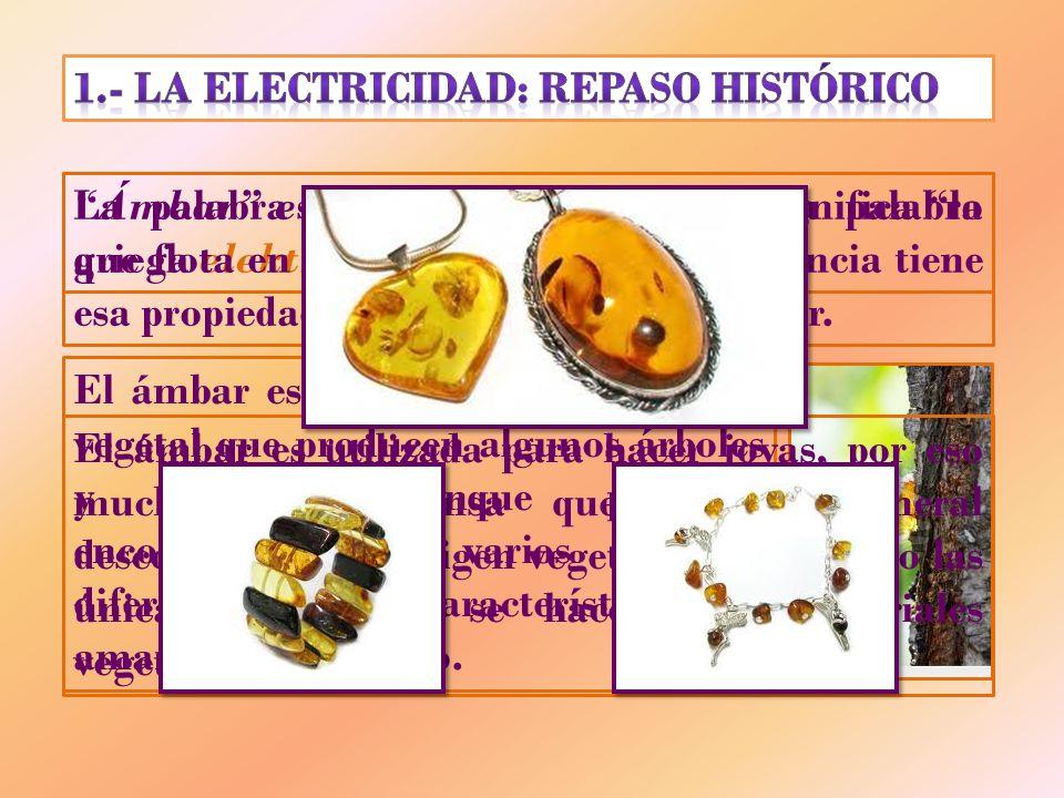 1.- LA ELECTRICIDAD: REPASO HISTÓRICO