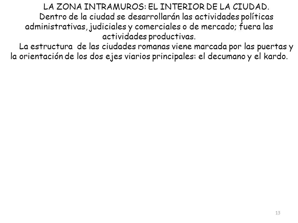 LA ZONA INTRAMUROS: EL INTERIOR DE LA CIUDAD.