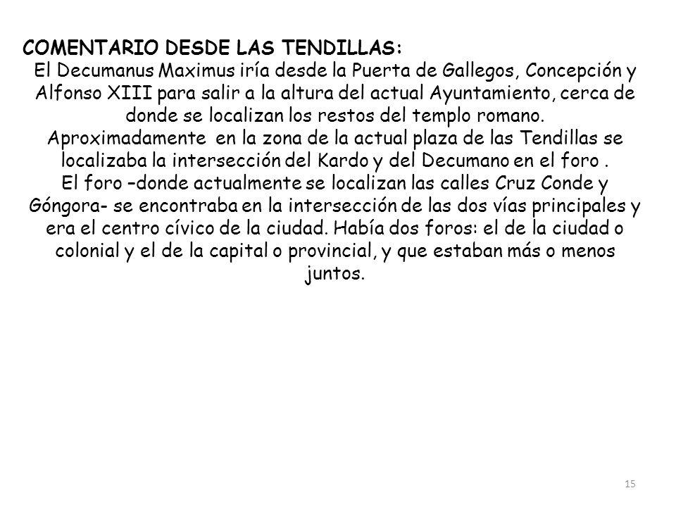 COMENTARIO DESDE LAS TENDILLAS: