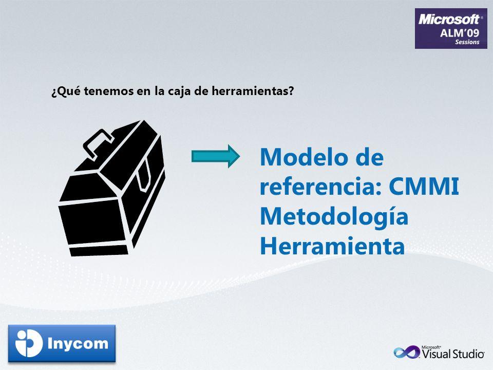 Modelo de referencia: CMMI Metodología Herramienta