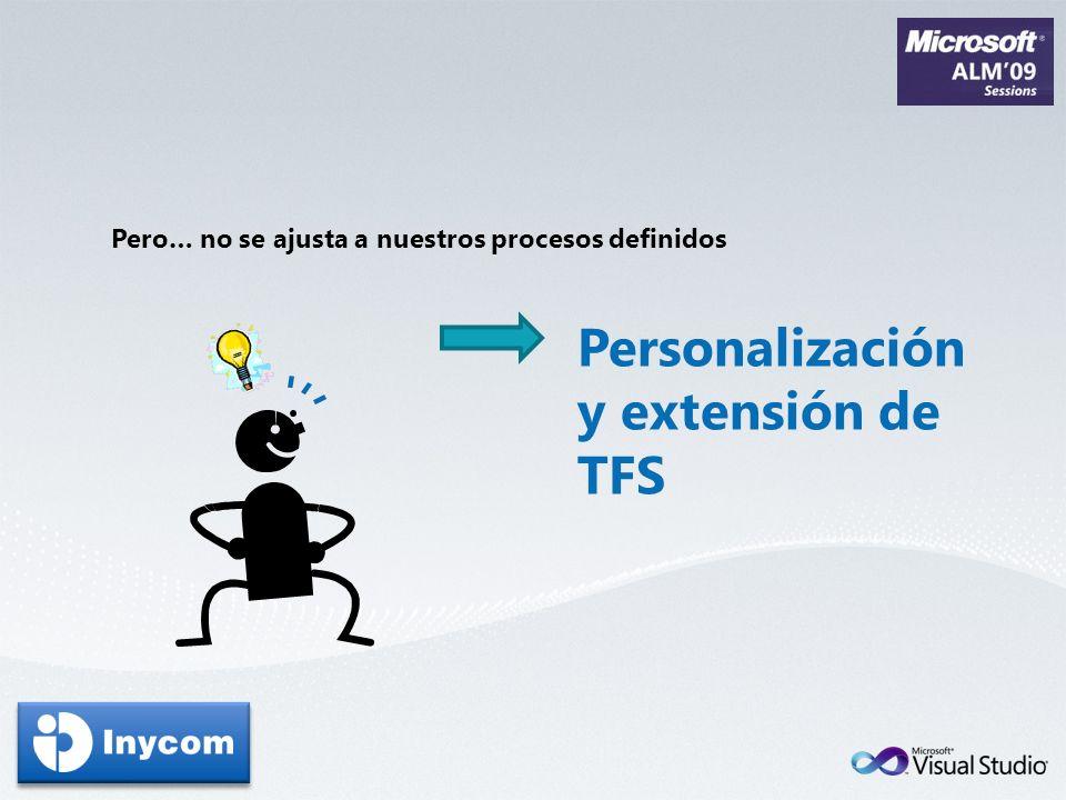 Personalización y extensión de TFS
