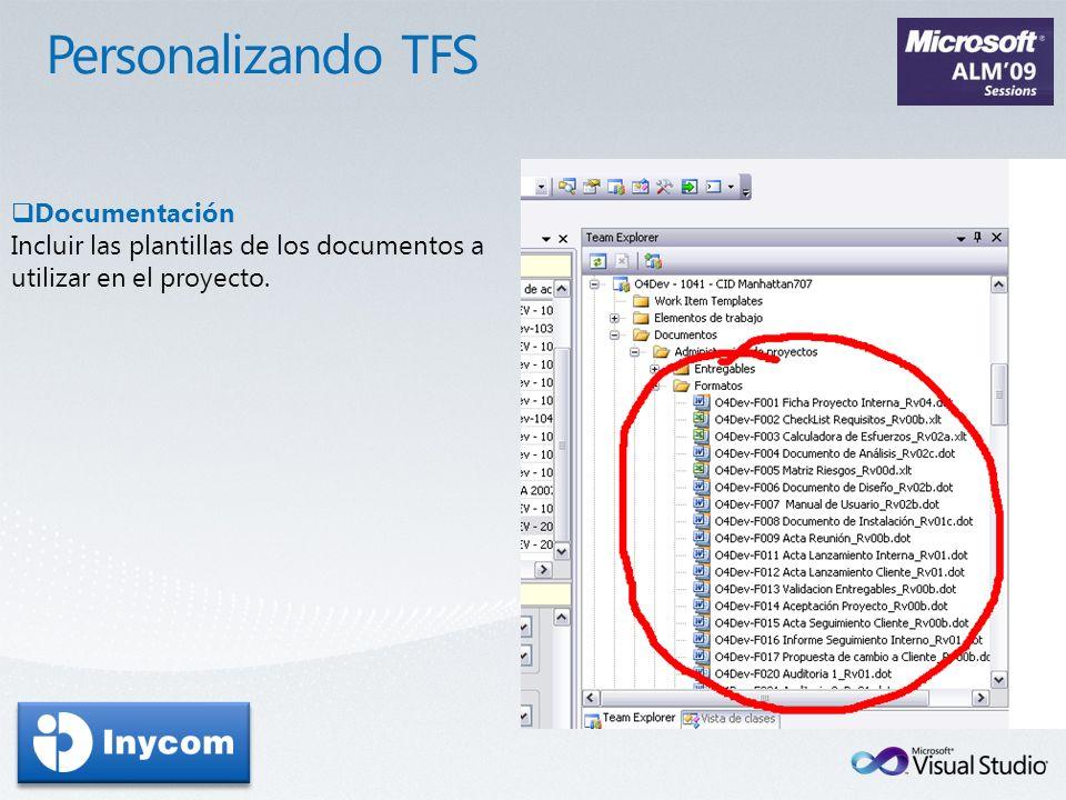 Personalizando TFS Documentación