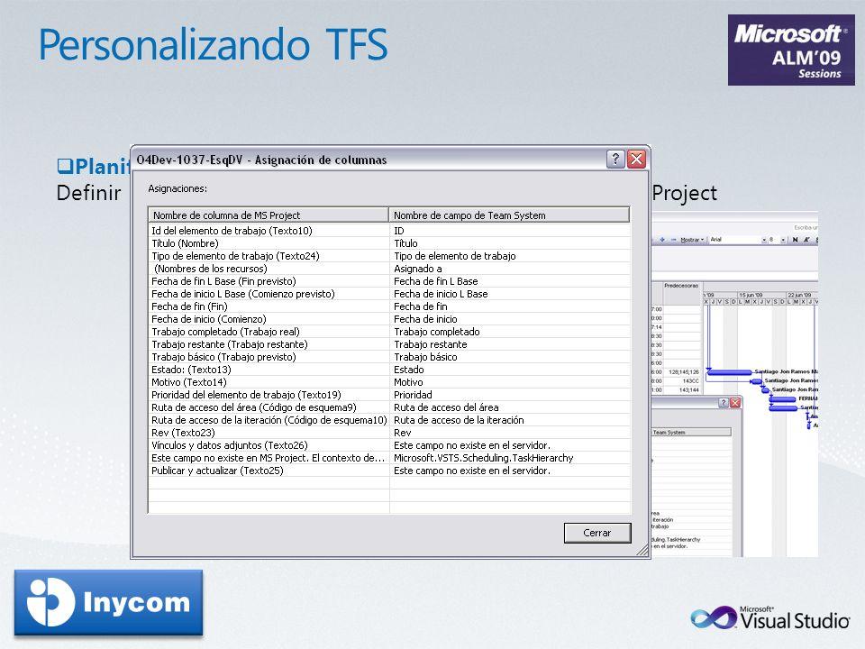 Personalizando TFS Planificación