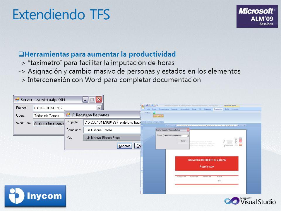 Extendiendo TFS Herramientas para aumentar la productividad