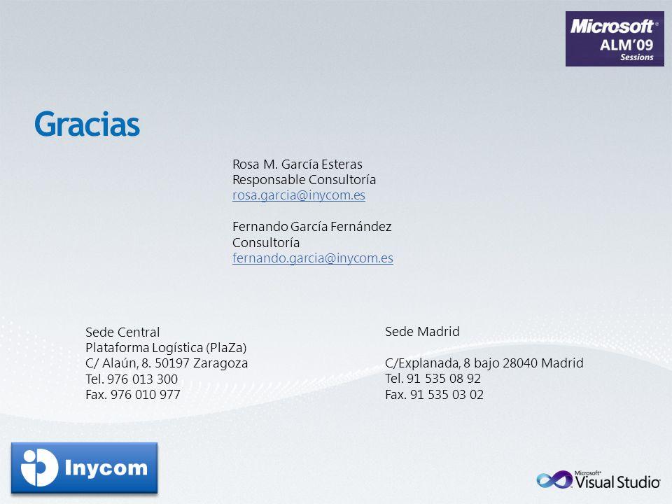 Gracias Rosa M. García Esteras Responsable Consultoría