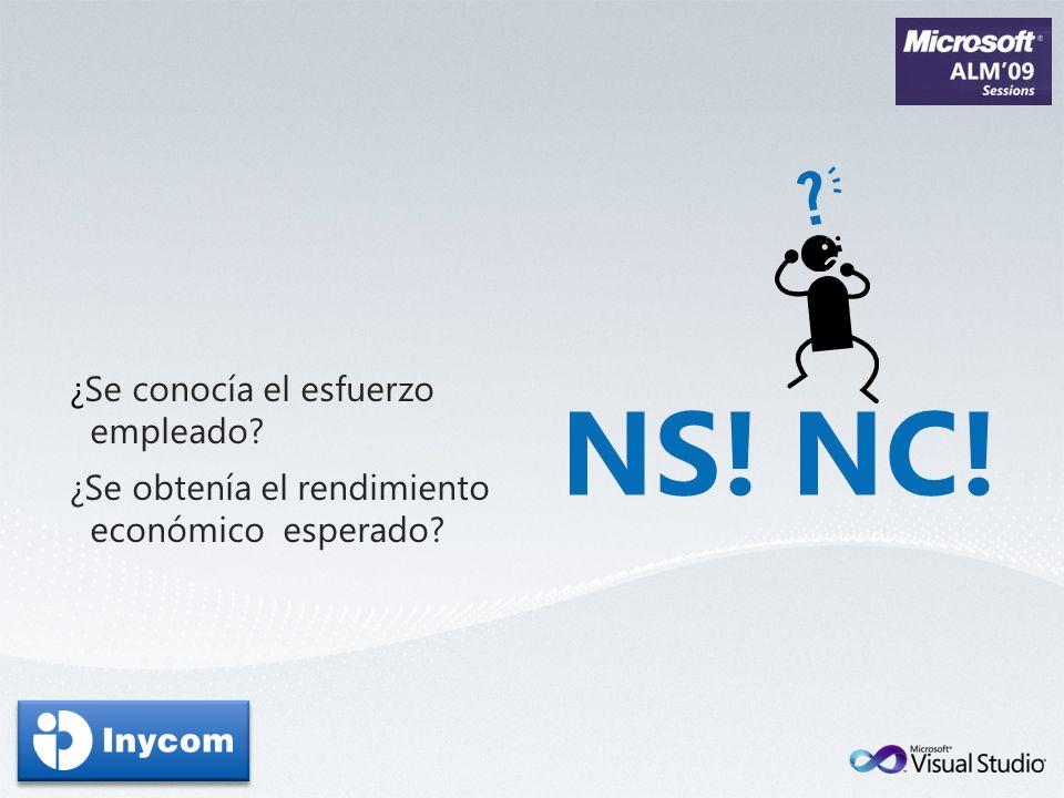 NS! NC! ¿Se conocía el esfuerzo empleado