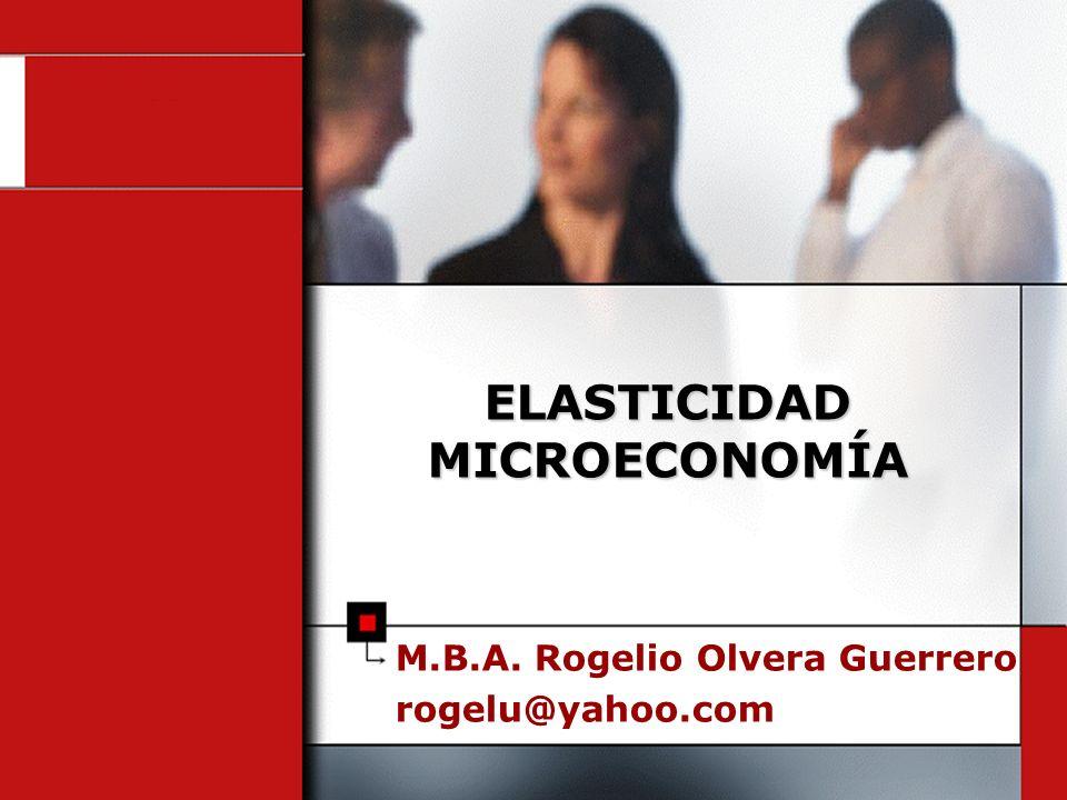 ELASTICIDAD MICROECONOMÍA
