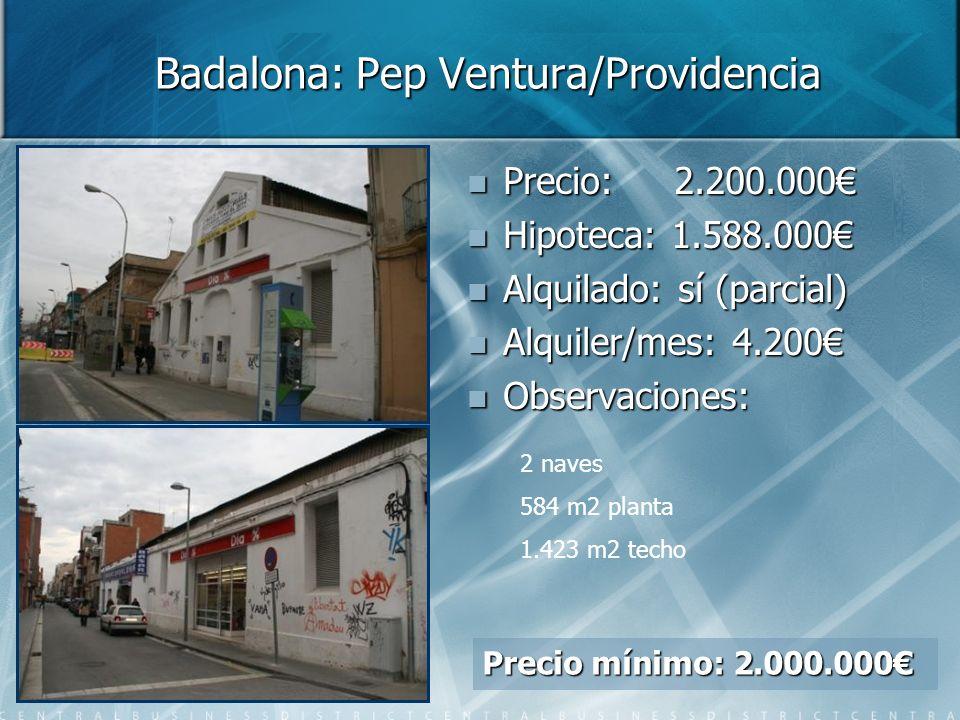 Badalona: Pep Ventura/Providencia