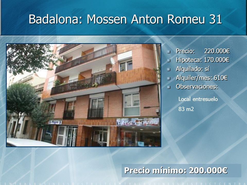 Badalona: Mossen Anton Romeu 31