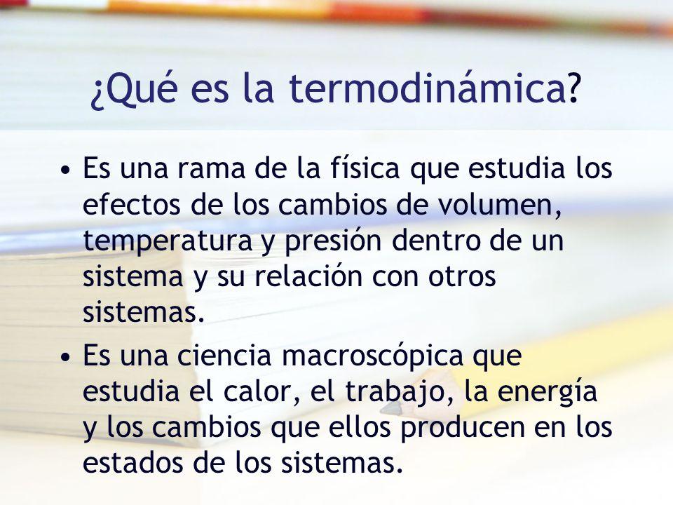 ¿Qué es la termodinámica