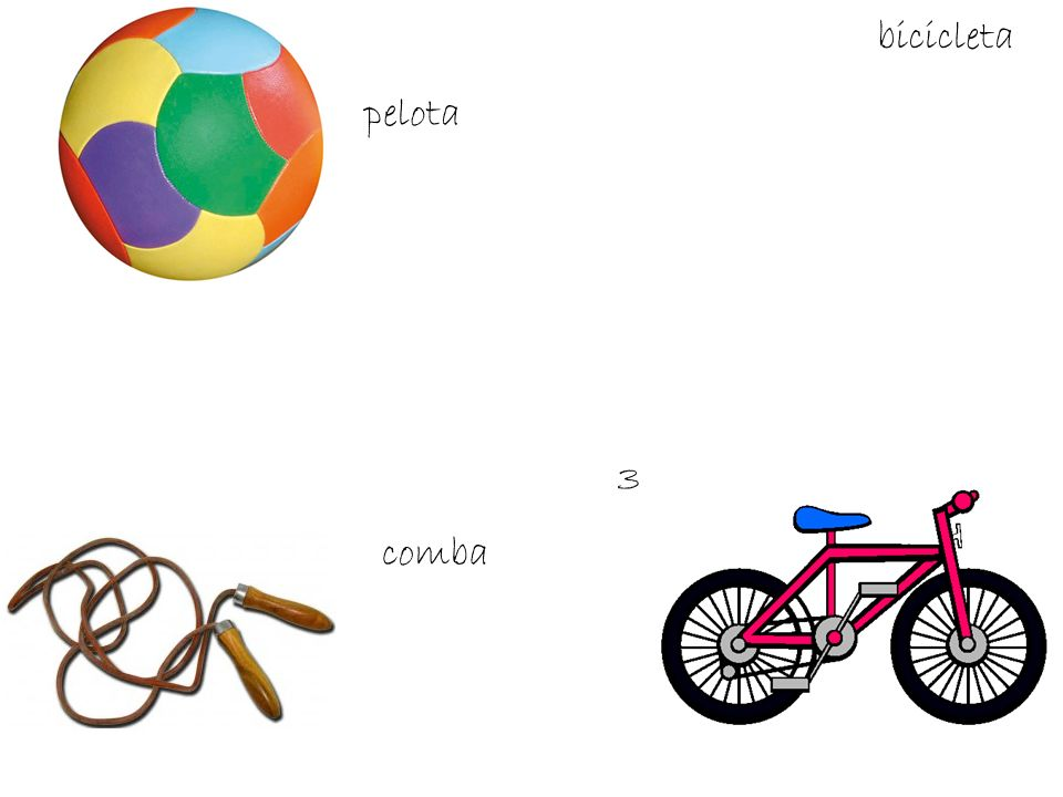 bicicleta pelota 3 comba