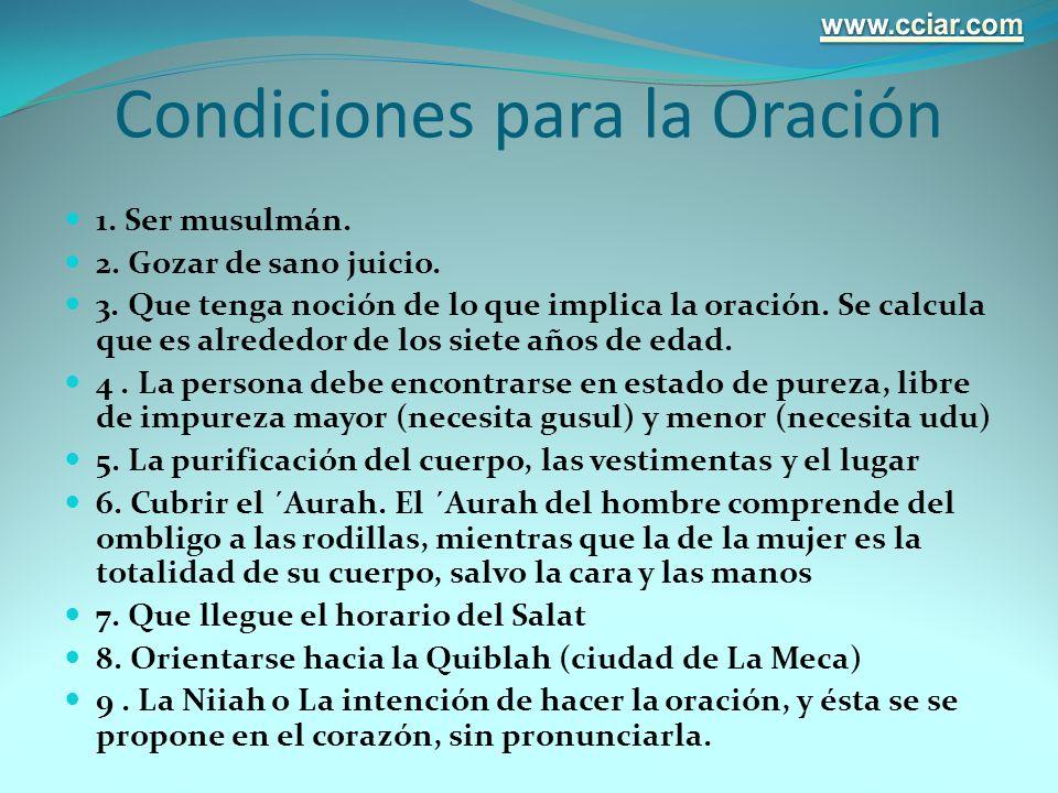 Condiciones para la Oración