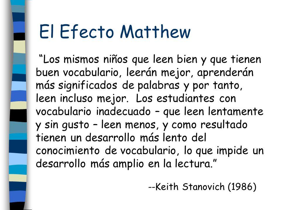 El Efecto Matthew