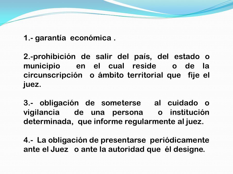 1.- garantía económica .