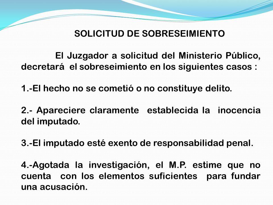 SOLICITUD DE SOBRESEIMIENTO