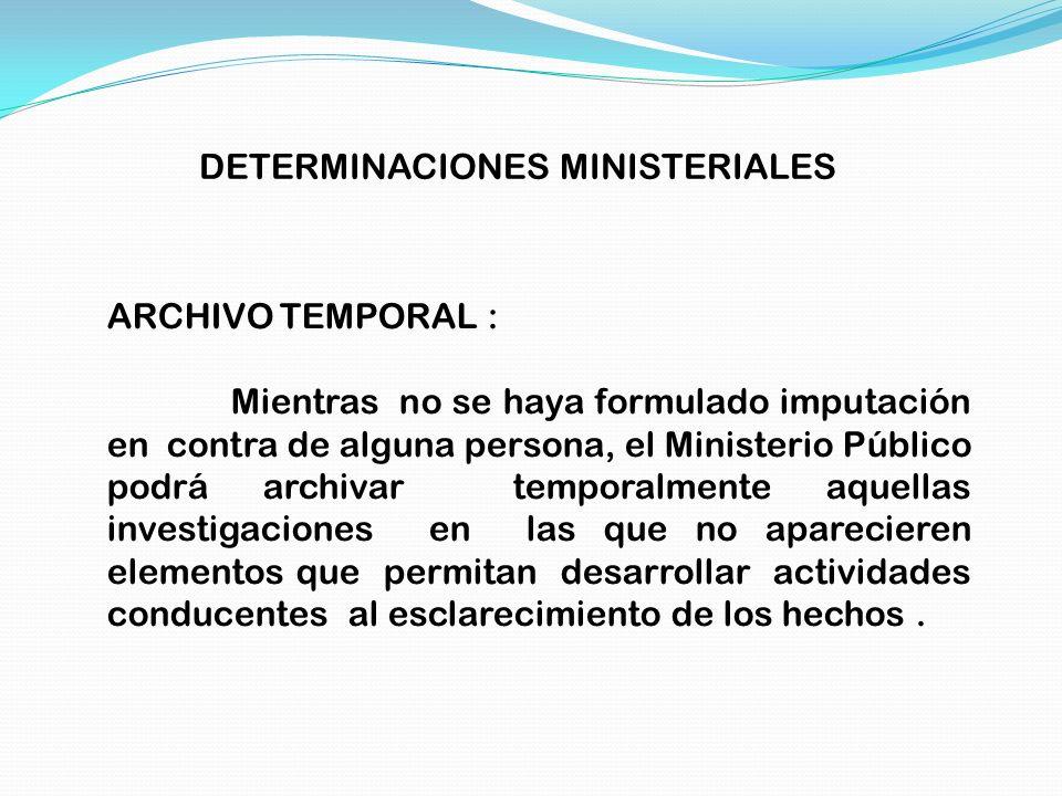 DETERMINACIONES MINISTERIALES