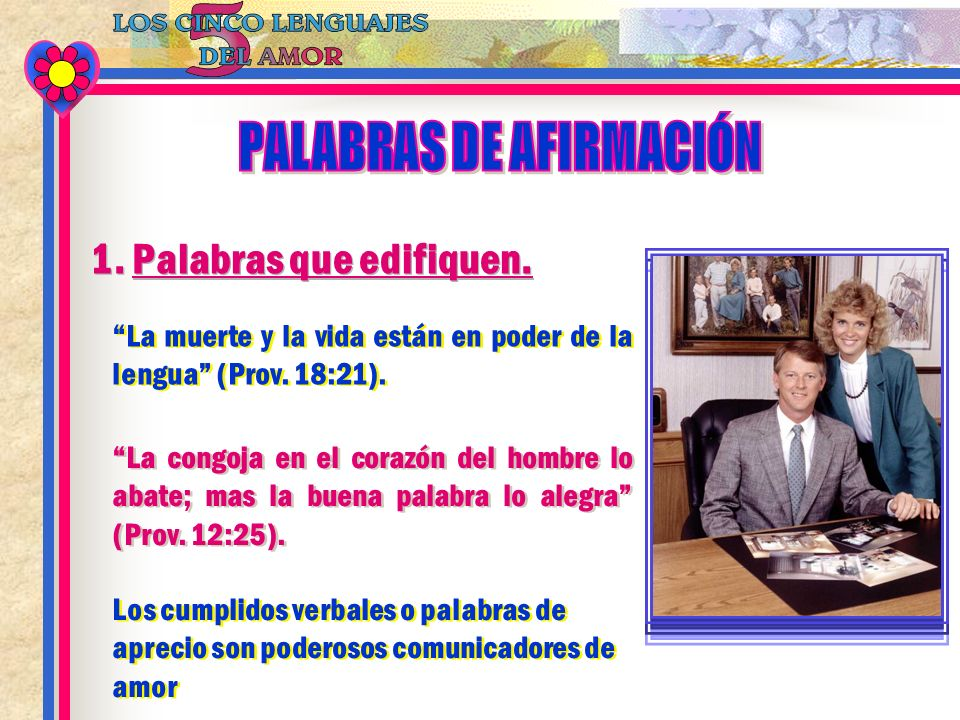 PALABRAS DE AFIRMACIÓN