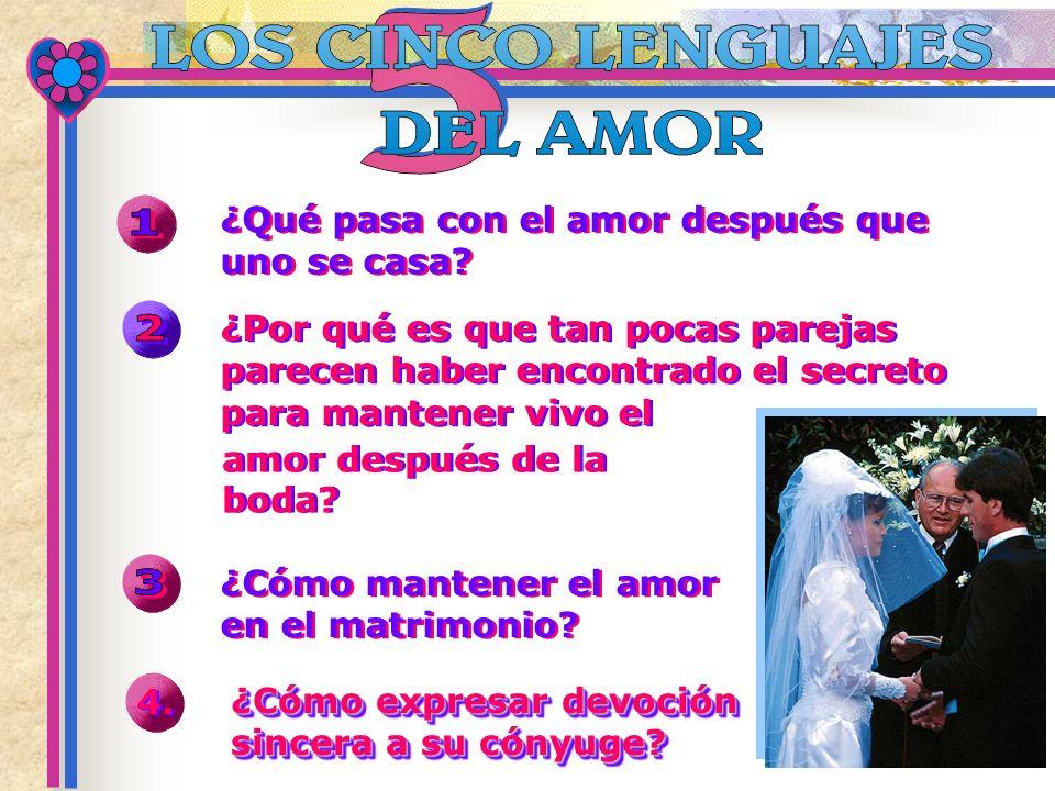 1 2 3 ¿Qué pasa con el amor después que uno se casa