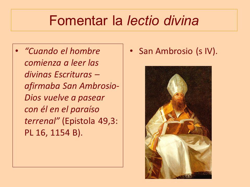 Fomentar la lectio divina
