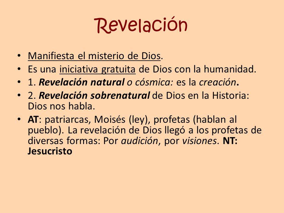 Revelación Manifiesta el misterio de Dios.