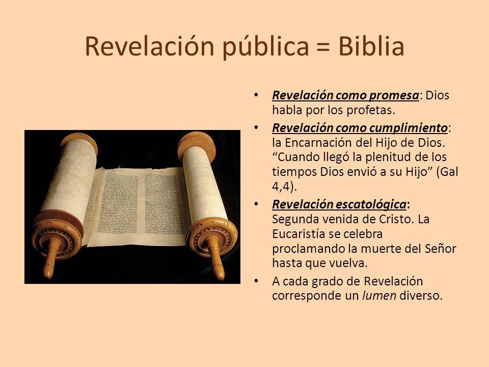 Revelación pública = Biblia
