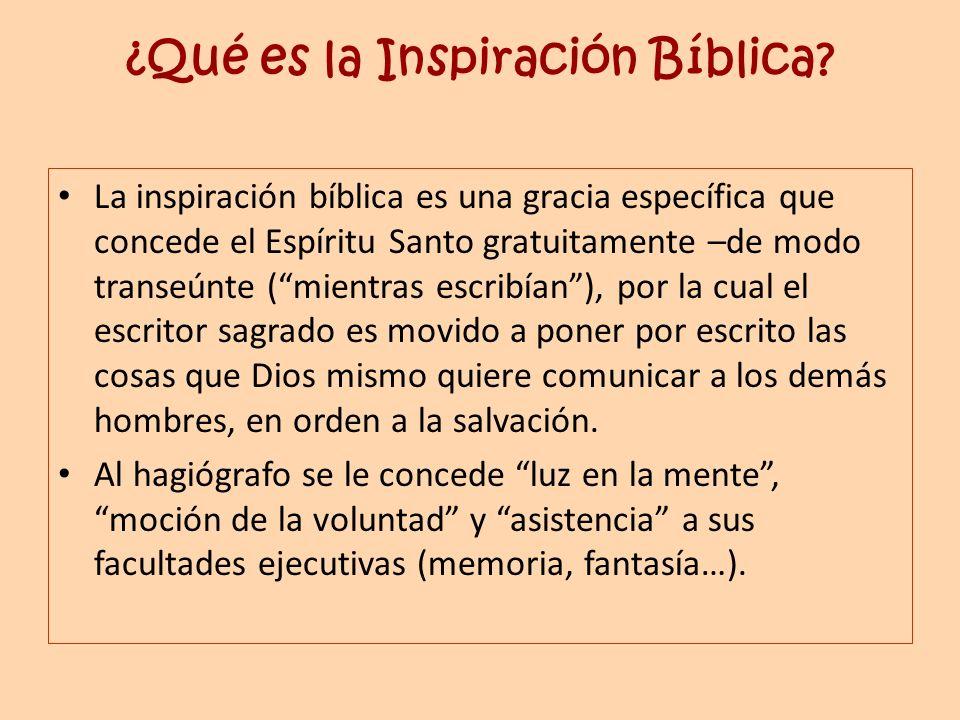 ¿Qué es la Inspiración Bíblica
