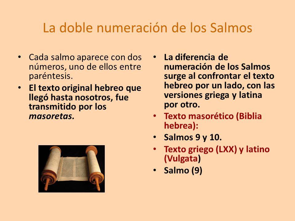 La doble numeración de los Salmos