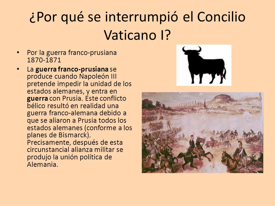 ¿Por qué se interrumpió el Concilio Vaticano I
