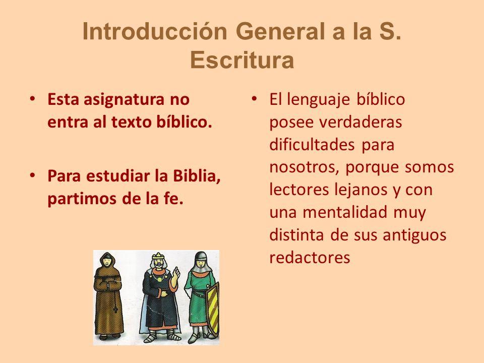 Introducción General a la S. Escritura